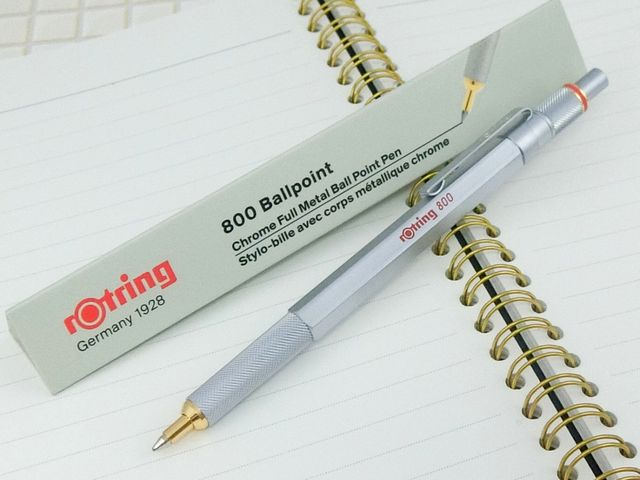 """New Product/"""" rOtring 800 Ballpoint pen Twist-system Matal Silver Hexagon Body"""